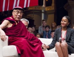 Dali Lama - Young Minds Conference Sydney Town Hall 2013 ©Brendan Read 2013